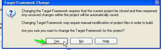 Choose Yes To Change Framework